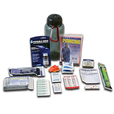 Ready America™ 1 Person 1 Day Deluxe Water Bottle Survival Kit