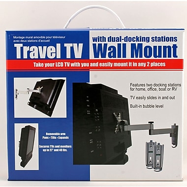Ready America™ Thumb Lock Fasteners® Travel TV Wall Mount