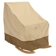 Classic® Accessories Veranda Woven Polyester Fabric Patio Rocking Chair Cover, Pebble/Bark/Earth