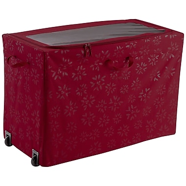 Classic® Accessories Seasons 24in.(H) x 18in.(W) x 36in.(D ) All-Purpose Rolling Storage Bin, Cranberry