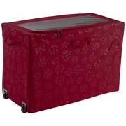 "Classic® Accessories Seasons 24""(H) x 18""(W) x 36""(D ) All-Purpose Rolling Storage Bin, Cranberry"