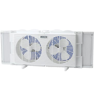 Lasko® 2137 7in. Twin Window Fan, White