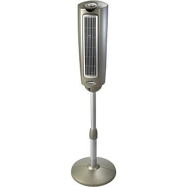 Lasko® 2535 52in. Space-Saving Pedestal Fan With Remote Control, Silver