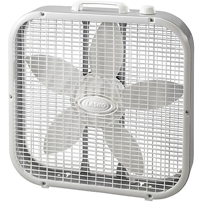 """""Lasko 3733 20"""""""" Box Fan, White"""""" 206181"