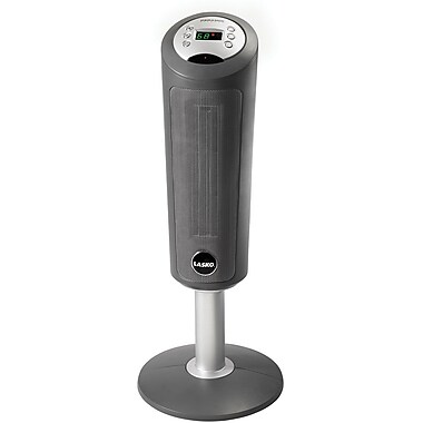 Lasko® 5365 1500 W Digital Space Saving Ceramic Pedestal Heater With Remote Control, Gray