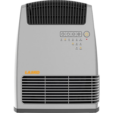 Lasko® 6251 1500 W Electronic Fan Forced Heater With Warm Air Motion Technology, Gray