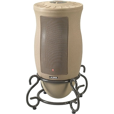 Lasko® 6435 1500 W Designer Series Oscillating Ceramic Heater With Remote Control, Tan