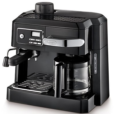 Delonghi BCO320T 10 Cup Programmable Combination Espresso and Drip Coffee Maker, Black Staples