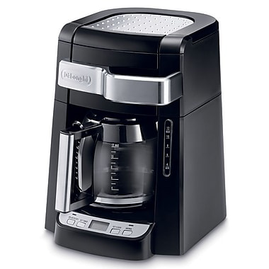 Delonghi DCF2210TTC 12 Cup Automatic Drip Programmable Coffee Maker, Black
