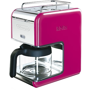 Delonghi Kmix DCM02 5 Cup Coffee Maker, Magenta
