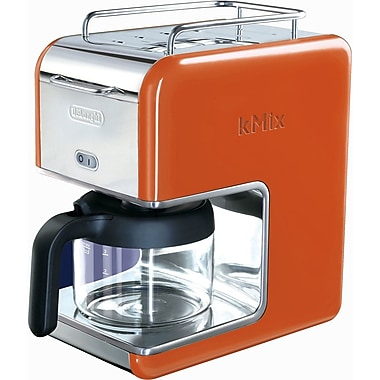 Delonghi Kmix DCM02 5 Cup Coffee Maker, Orange