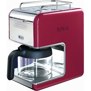 Delonghi Kmix DCM02 5 Cup Coffee Maker, Red