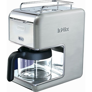 Delonghi Kmix DCM02 5 Cup Coffee Maker, Stainless Steel