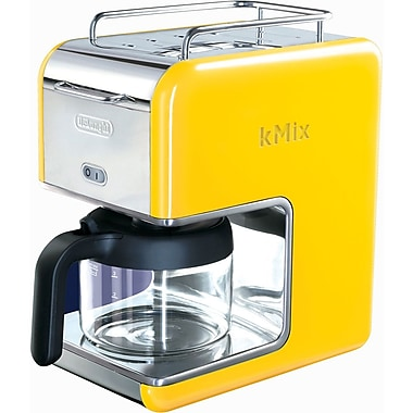 Delonghi Kmix DCM02 5 Cup Coffee Maker, Yellow