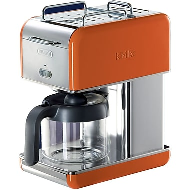 Delonghi Kmix DCM04 10 Cup Coffee Maker, Orange