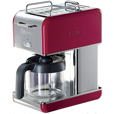 Delonghi Kmix DCM04 10 Cup Coffee Maker, Red