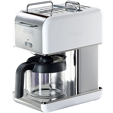 Delonghi Kmix DCM04 10 Cup Coffee Maker, White