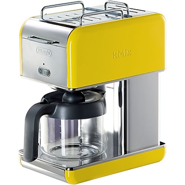 Delonghi Kmix DCM04 10 Cup Coffee Maker, Yellow