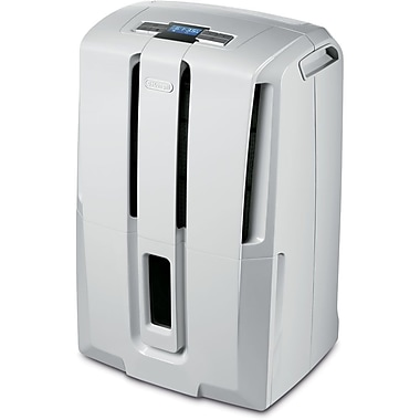 Delonghi DD45 Energy Star 45 Pint Dehumidifier With Control Remote, White