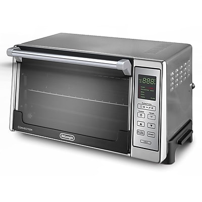 Delonghi 1300 W Digital Convection Toaster Oven, Silver 205648