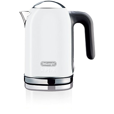 Delonghi DSJ04 1.6 Liter Electric Tea Kettle With Water Level Indicator, White
