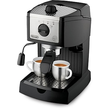 Delonghi EC155 2 Cup Pump Espresso Maker, Black/Silver