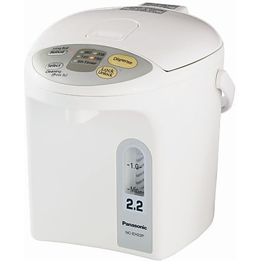 Panasonic® 2.3 Quart Electric Thermo Pot, White With Silver Trim