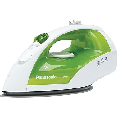 Panasonic® 1200 W Steam/Dry Iron, White With Green