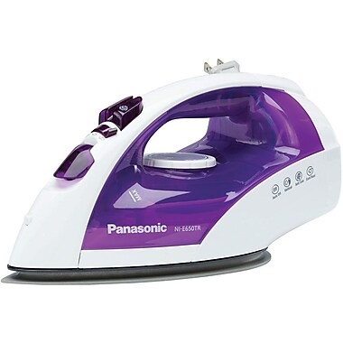 Panasonic® 1200 W Steam/Dry Iron, White With Violet