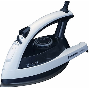 Panasonic® Quick™ 1500 W 360 degree  Steam/Dry Iron, White With Clear Gray