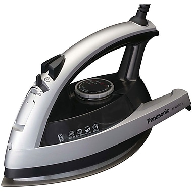 Panasonic® Quick™ 1500 W 360 degree  Steam/Dry Iron, Silver With Clear Gray
