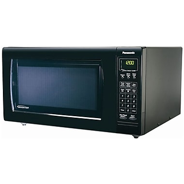 Panasonic® 1.6 cu. ft. Full-Size Countertop Microwave Oven With Inverter Technology, Black