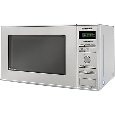 Panasonic® 0.8 cu. ft. NEW! Compact Size Microwave Oven With Inverter Technology, Stainless Steel