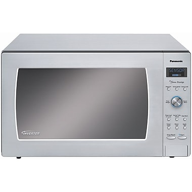 Panasonic® 2.2 cu. ft. Genius Prestige Countertop Microwave Oven With Blue LED Dial, Stainless Steel