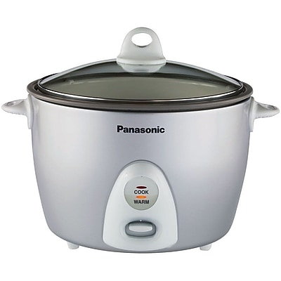 Panasonic 10 Cup Automatic Rice Cooker With Steamer, Silver 205824