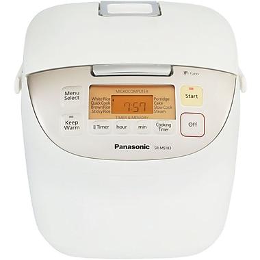 Panasonic® 20 Cup Fuzzy Logic Rice Cooker, White