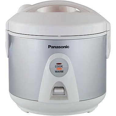 Panasonic® 10 Cup Automatic Rice Cooker With Steamer Basket, Silver