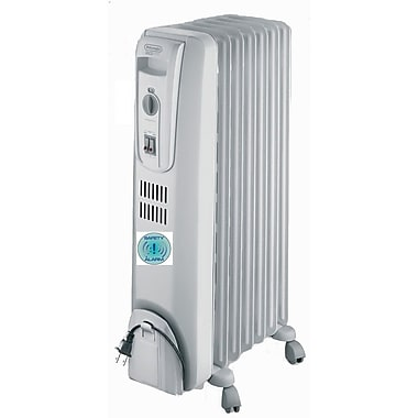 Delonghi TRH0715SH 1500 W Basic Oil-Filled Radiator With Safety Feature, Light Gray