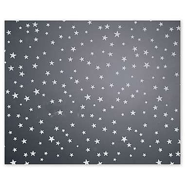30in. x 100' Stars Polypropylene Film Roll, Silver