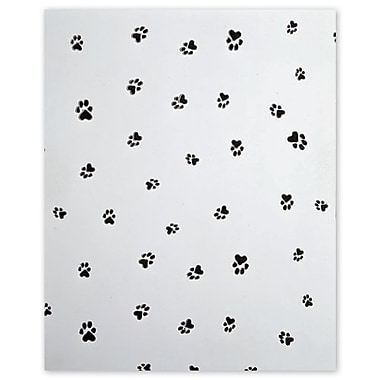 5in. x 3in. x 11 1/2in. Paws Cello Bags, Black on White