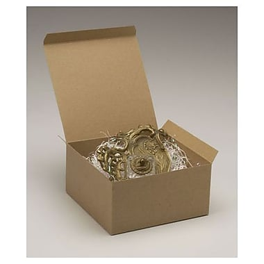 Boîtes-cadeaux monoblocs, 6 x 10 x 10 (po), kraft, 50/paquet