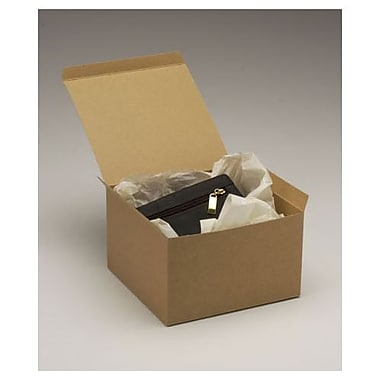 3 1/2in. x 8in. x 8in. One-Piece Gift Boxes, Kraft