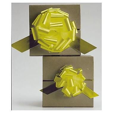 Nœuds en satin parfaitement dénouables de 4 po, jaune, 50/paquet