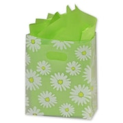 "8"" x 4"" x 10"" Daisy Die Cut Frosted Shoppers, Clear"