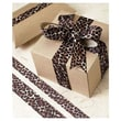 7/8in. x 10 yds. Grosgrain Leopard Ribbon, Brown & Black on Ivory