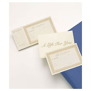 8 3/8in. x 4 1/8in. Gift Certificate, Ivory