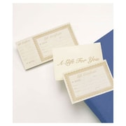 "8 3/8"" x 4 1/8"" Gift Certificate, Ivory"