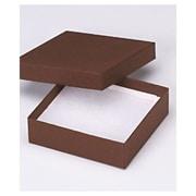 "3 1/2"" x 3 1/2"" x 1"" Jewelry Boxes, Cocoa"