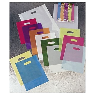 9in. x 12in. Frosted High Density Merchandise Bags, Asst