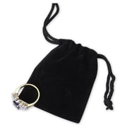 2in. x 2 1/2in. Velvet Pouch, Black